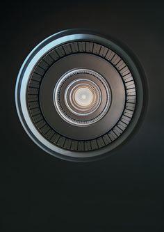"""Monochromatic Round Staircase"" by Jarek Blaminsky - Shop prints on Artsider http://www.artsider.com/works/39564-monochromatic-round-staircase"