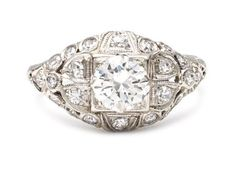 Dale Fournier - Art Deco Diamond Engagement Ring