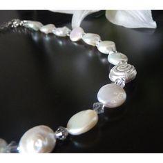 Brautschmuck kette dezent  Filigranes Silbercollier mit Perlen - Brautschmuck | Brautschmuck ...
