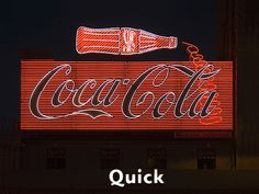 Coke in neon in Paris