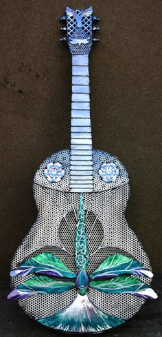 Dragonfly guitar by Laura Wright.