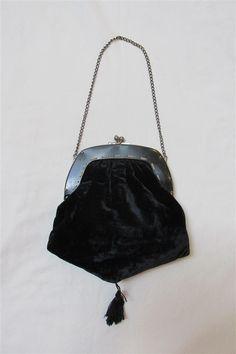 9da356c7f0d0f 1910 To 1920 s Edwardian Black Velvet