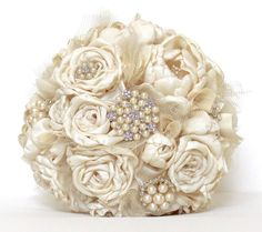 BROOCH WEDDING BOUQUET Brooch bridal bouquet by AdoredOccasions