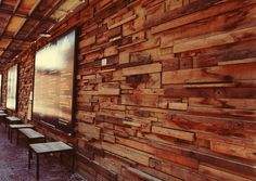 wood wall  - distillery district : toronto