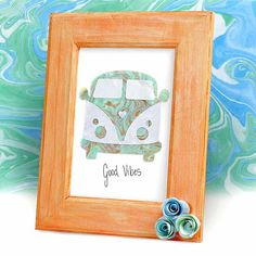This groovy marbled picture was created with Smooch Accent Ink and water by @midgeandmadgemingle