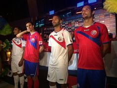 e4189718f Costa Rica 2014 World Cup Kits released. The new Costa Rica 2014 World Cup  Shirts are made by Lotto Sports Italia and feature an eye-catching design on  the ...