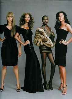 Modern Fashionista Black Beauty: Tyra Banks, Iman, Alek Wek, and Kimora Lee Simmons Kimora Lee Simmons, Claudia Schiffer, Cindy Crawford, Black Girls Rock, Black Girl Magic, Heidi Klum, My Black Is Beautiful, Beautiful People, Beautiful Women