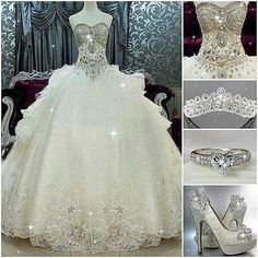 Wonderful Wedding dresses plus size winter,Wedding dresses a line bling and Beautiful wedding dresses lace. Princess Wedding Dresses, Dream Wedding Dresses, Bridal Dresses, Wedding Gowns, Wedding Dresses With Bling, Bling Dress, Princess Gowns, Baby Wedding, Bling Wedding