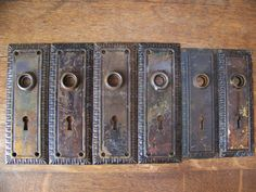 Antique Shabby Chic Door Plates set of by lesaestes on Etsy