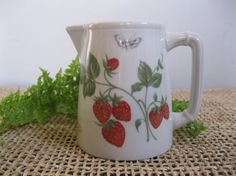 Vintage Limoges France Strawberry Creamer by Reshopgoods on Etsy