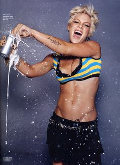 "P!nk...love. Strength, power, determination and a little bit of ""fuck you"""