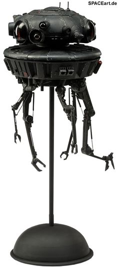 Star Wars: Imperial Probe Droid   Typ: Deluxe-Figur (voll beweglich)   Hersteller: Sideshow   https://spaceart.de/produkte/sw016.php