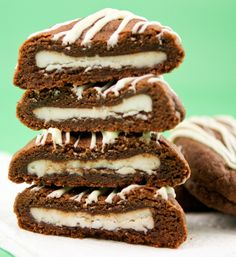 Double Chocolate Cookies with a Peppermint Patty Surprise - AH-MA-ZING!
