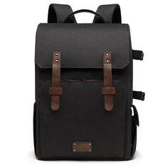 Shop BAGSMART Chic Camera Backpack SLR/DSLR Camera Bag for Lens & Laptop with Waterproof Rain Cover & Tripod Holder (Classic Black). Laptop Camera, Dslr Camera Bag, Camera Backpack, Camera Gear, Laptop Bag, Backpack Bags, Dslr Cameras, Camera Cover, Photo Backpack