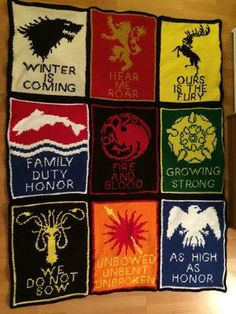 Game of Thrones Sigil Blanket with patterns- I've probably pinned this a hundred times but I'll pin it again just in case