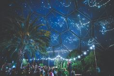 The starry night sky at the Eden Project, Cornwall.  Beautiful!!!!  Photography: http://www.alanlawphotography.co.uk/