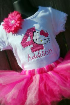 Might have to get this for her next birthday... :) Personalized Birthday Tutu Set by sewglamourouscreatio, $45.00