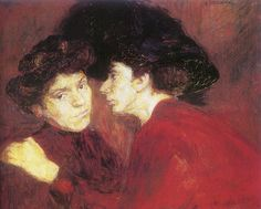 Podkowinski, Wladyslaw - 1894 Conversation (Na… Gouache, French Impressionist Painters, Vampire Kiss, Drawing School, Converse, Art Academy, Claude Monet, National Museum, Figurative Art
