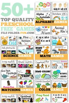 Top Quality Free Preschool File Folder Games Preschool is a great time to get children started with fun learning experiences. Even at an early age children can learn all about color identification, Preschool At Home, Free Preschool, Preschool Printables, Preschool Lessons, Preschool Kindergarten, Preschool Activities, Preschool Curriculum Free, Preschool Theme Units, Toddler Preschool
