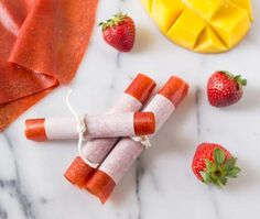 There's no need to buy store-bought fruit leather with this easy homemade version. Bursting with strawberry and mango flavors, it's perfect for lunch boxes and after school snacks.