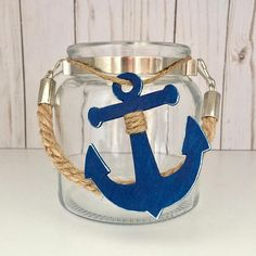 Nautical Shower Decor Nautical Mason Jar Anchor Storage Navy Mom Gifts Anchor Mason Jar Nautical Anchor Vase Navy Girlfriend Gift - Nautical Baby Names - Ideas of Nautical Baby Names - Nautical Shower Decor Nautical Mason Jar Anchor Storage Nautical Room Decor, Nautical Party, Nautical Anchor, Nautical Wedding, Beach Crafts, Crafts To Do, Anchor Party, Deco Marine, Ocean Room