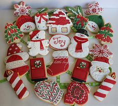 Christmas cookie assortment!!! Bebe'!!! Love these adorable cookies to swap!!!