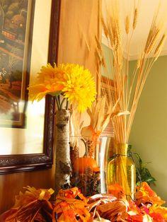 Fall Wheat Birch Decor
