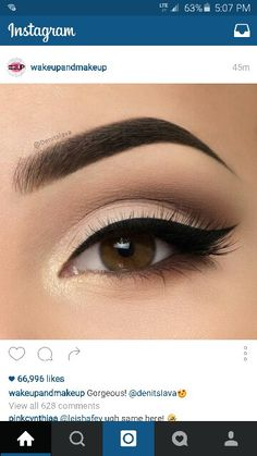Three Essential Make Up Tips: Eyeliner Makeup Goals, Makeup Inspo, Makeup Inspiration, Makeup Tips, Beauty Makeup, Makeup Ideas, Basic Makeup, Prom Makeup, Cute Makeup