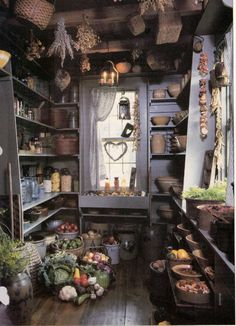 and Fall – A Match Made In Heaven – Decorating with primitives Primitive pantry. Picture torn from and old, unknown magazine. Primitives and Fall – A Match Made In Heaven