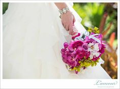 hot pink bridal bouquet / floral design by passion roots / l'amour photography