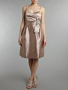 Eliza J Pleated Waist Dress