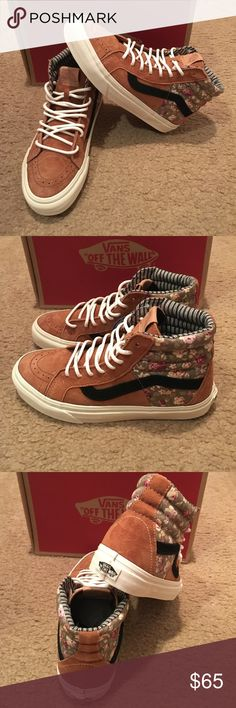 Vans SK8-Hi 46 CA Floral Mix Sneakers New in box. Mocha Bisque Vans Shoes Sneakers