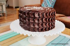 Dark Chocolate Salted Caramel Cake | Kenna McDonald | Everything Gal