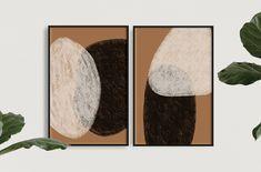 SONDER || Modern Luxury Abstract Minimal Mid-Century Inspired Art Print (Set of 2) Ottawa, Neutral Colors, Colours, My Design, Modern Design, Modern Art Prints, Boho, Modern Luxury, Minimalism