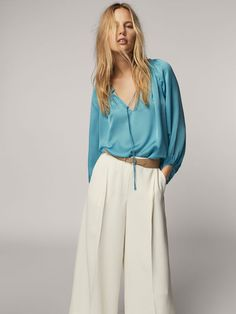 Spring summer 2017 Women´s FLOWING SILK BLOUSE at Massimo Dutti for 89.5. Effortless elegance!