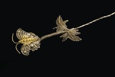 Butterfly filigree hairpin | The Creative Museum