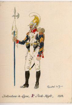 Porta Aquila di un rgt. di fanteria della linea, 1812