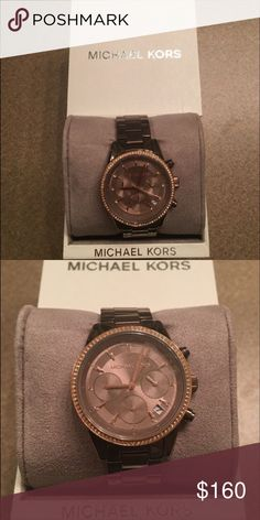 Michael Kors watch Michael Kors watch brand new with face cover still on it and all the links. Received as a gift and just is not my style. Unworn comes in the box and has not been sized. Michael Kors Accessories Watches