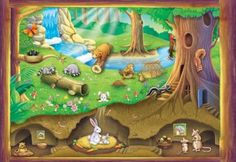 Solve Forest Life jigsaw puzzle online with 117 pieces Illustrations, Illustration Art, Bunny Book, Woodland Animal Nursery, Cartoon Pics, Cartoon Picture, Animal Tracks, Free To Use Images, Cute House