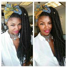 Luv the whole look! @bleu_majik #LUVYOURMANE #blackisbeautiful