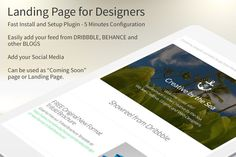 Landing Page for Designers by creativebythesea on Creative Market