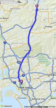 Driving Directions from 17447 Ashburton Rd, San Diego, California 92128 to San Diego Zoo in San Diego, California 92101 | MapQuest
