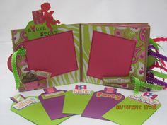 Bridal Shower  Wedding  Paper Bag Scrapbook  Mini by TopangaDaCat, $24.99