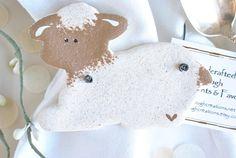 Christening Favor / Baptism Lamb Salt Dough Wholesale