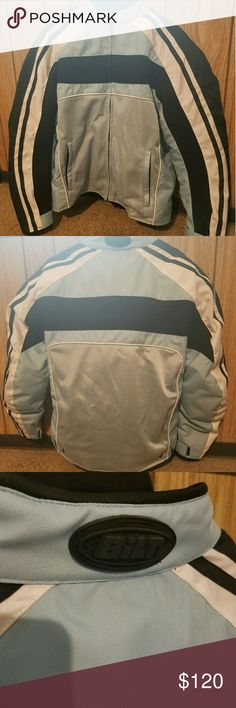 Bilt Motorcycle Jacket - Medium Brand new without tags. Bought it to ride with my boyfriend, then he got hurt  (long story not involving the bike), but he decided to sell it and has no intentions of buying another one.  The jacket has the double lining that zips out (I think that's what it is called) and the snaps to tighten it at the waist and velcro at the wrists. Has padding in the shoulders. Let me know if you would like more photos! Bilt Other