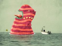 The sea by Mahmoud Refaat, via Behance