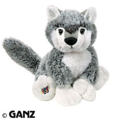 WEBKINZ-RETIRED-GREY-WOLF-HM203-NEW-SEALED-CODE-TAG-RARE-VHTF