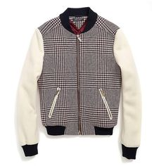 Tommy Hilfiger Glen Paid Varsity Jacket ($200) ❤ liked on Polyvore featuring outerwear, jackets, coats, guys, pocket jacket, varsity bomber jacket, varsity style jacket, varsity jacket and lined jacket