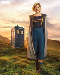 Oh my… have you seen that fabulous outfit? Jodie Whittaker looks amazing as the 13th Doctor! Look at those suspenders! That rainbow shirt! The boots! It's perfect! What do you guys think of the new look? Let us know in the comments below! [Source: BBC]