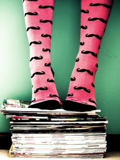 Saved by Sara Lindholm (saralindholm). Discover more of the best Sara, Lindholm, Socks, Legs, and Moustache inspiration on Designspiration Cute Tights, Cute Socks, Pink Tights, Pink Socks, Stuffed Animals, Look Fashion, Girl Fashion, Stocking Tights, Crazy Socks